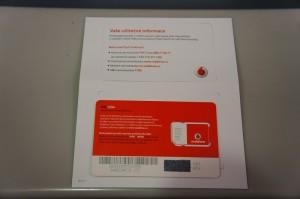 ボーダフォン・チェコのSIMカード